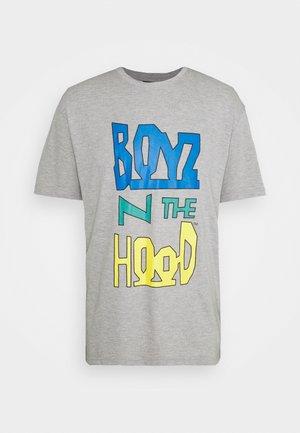 BOYZ N THE HOOD - Print T-shirt - grey marl