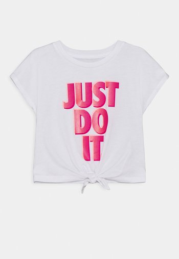 SHORT SLEEVE DRAPEY GRAPHIC - T-shirt print - white/fireberry