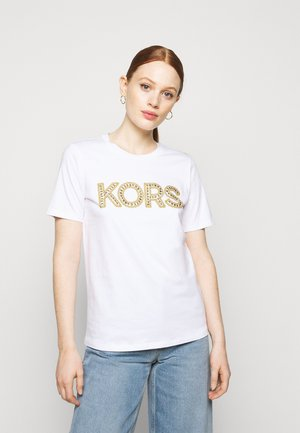 STUDDED CLASSIC TEE - Print T-shirt - white