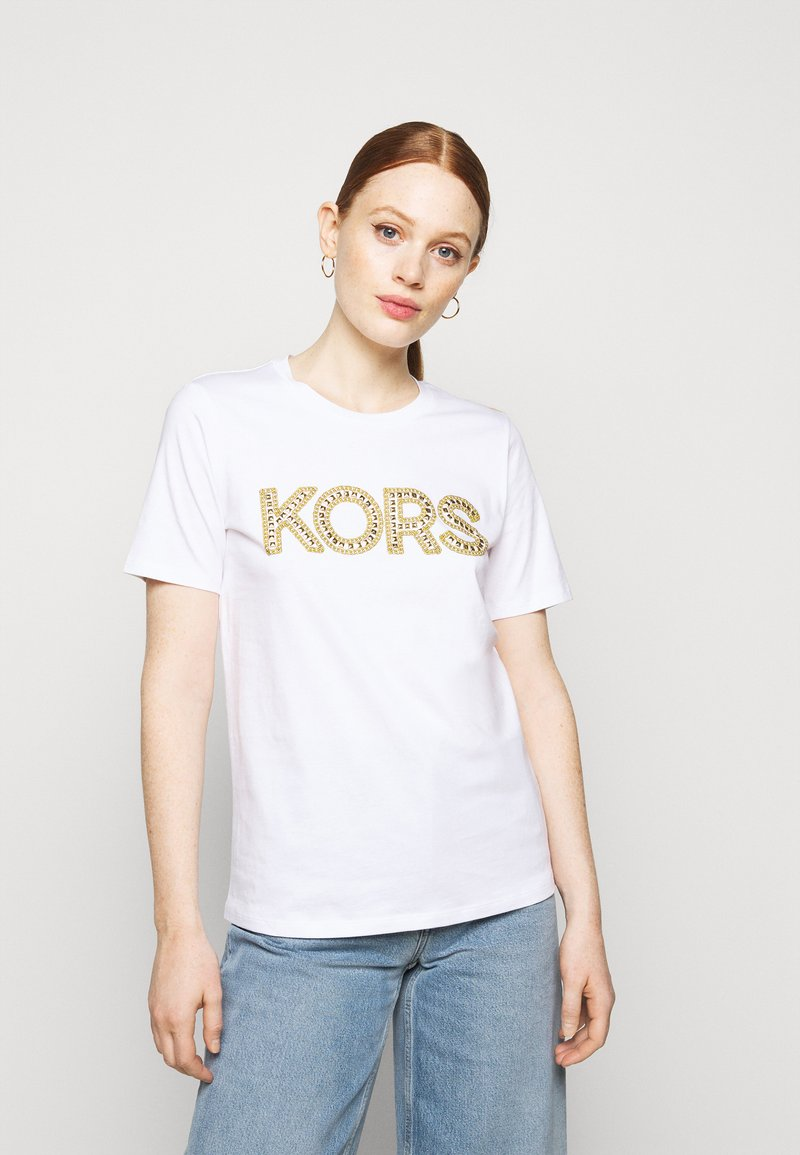 MICHAEL Michael Kors - STUDDED CLASSIC TEE - T-shirt con stampa - white