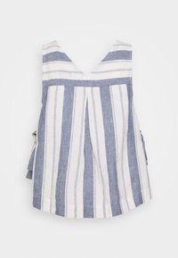 Madewell - SIDE TIE TANK STRIPE - Blouse - nice blue - 1