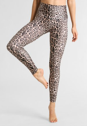 HIGH RISE LONG LEGGING - Legging - leopard