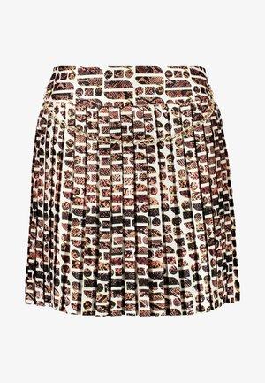 Pliceret nederdel /Nederdele med folder - brown