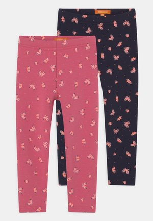 2 PACK - Leggings - Trousers - old rose melange/tinte