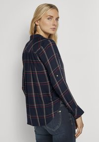 TOM TAILOR - Button-down blouse - navy grid check - 2