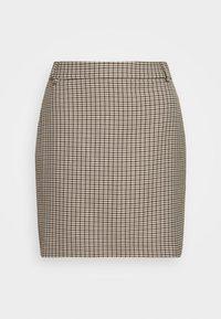CHARITON CHECK - Mini skirt - moon dust