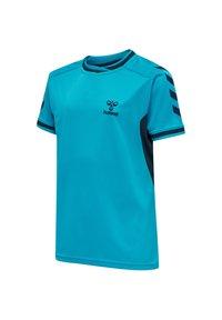 Hummel - HMLACTION POLY JERSEY S/S KIDS - Print T-shirt - atomic blue/black iris - 4