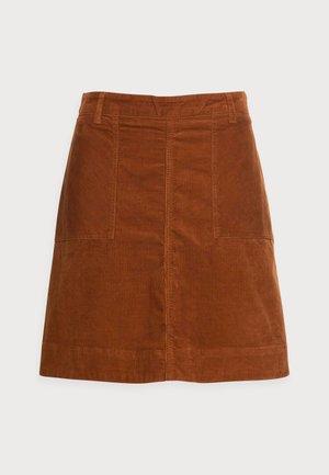 VICTORIA SOLID SKIRT - Mini skirt - cognac