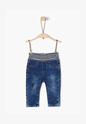 MIT UMSCHLAGBUND - Jeans Skinny Fit - dark blue
