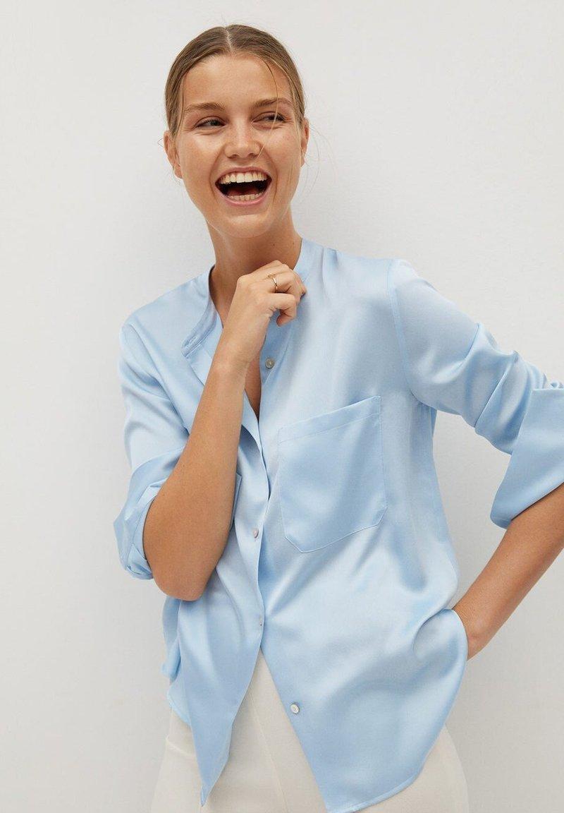 Mango - MAOSAT - Button-down blouse - blauw