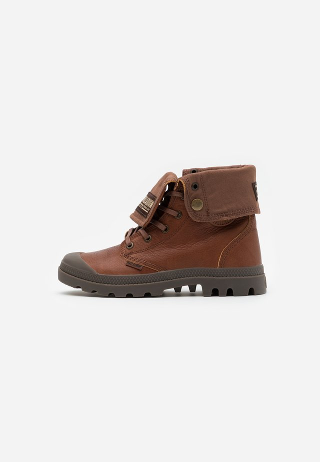 BAGGY - Lace-up ankle boots - mahogany