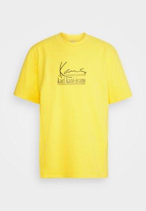 SIGNATURE TEE UNISEX  - Camiseta estampada - yellow
