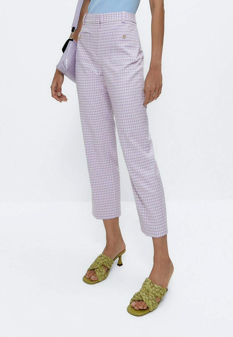 Uterqüe - Trousers - lilac