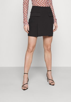 COORD TAILORED POCKET DETAIL - Mini skirt - black