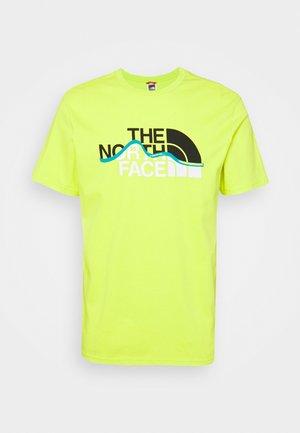 MOUNTAIN LINE TEE - Print T-shirt - light green
