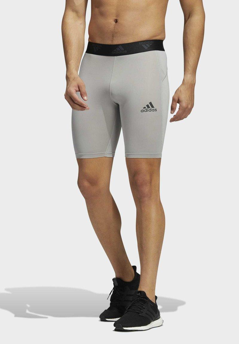 adidas Performance - TURF TRAINING WORKOUT TECH-FIT AEROREADY PRIMEGREEN TECHFIT SHORT LEGGINGS COMPRESSION - Shorts - grey