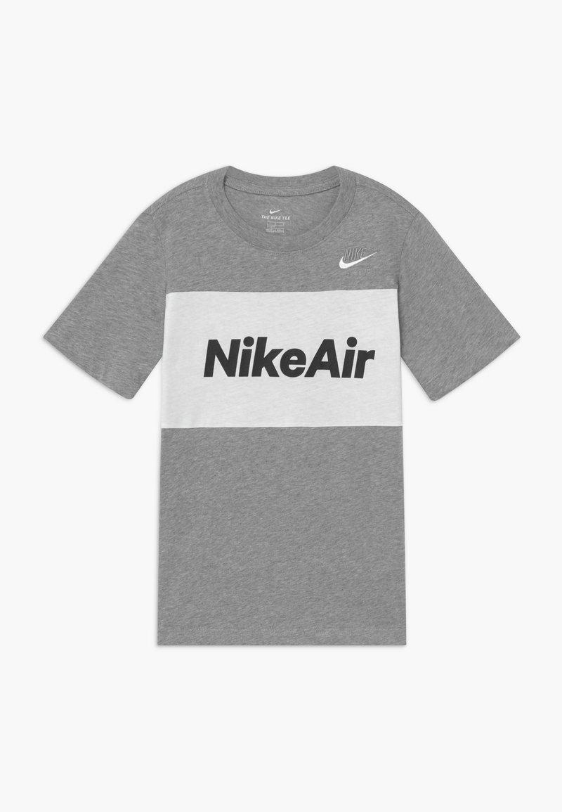Nike Sportswear - AIR TEE - Print T-shirt - dark grey heather/white