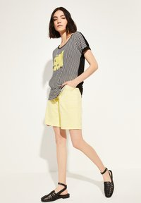 comma casual identity - Blouse - black stripes placed wording - 1