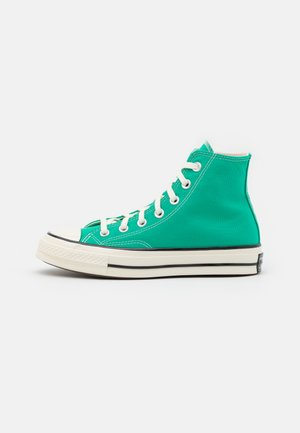 CHUCK 70 RECYCLED UNISEX - Korkeavartiset tennarit - court green/egret/black