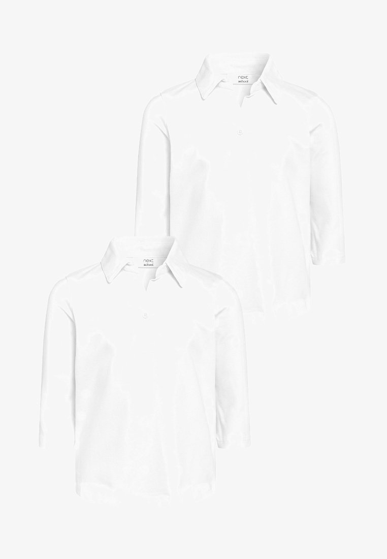 Next - 3/4 QUARTER SLEEVE TWO PACK - Polo shirt - white