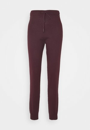 ZELL PANTS  - Trousers - bordeaux