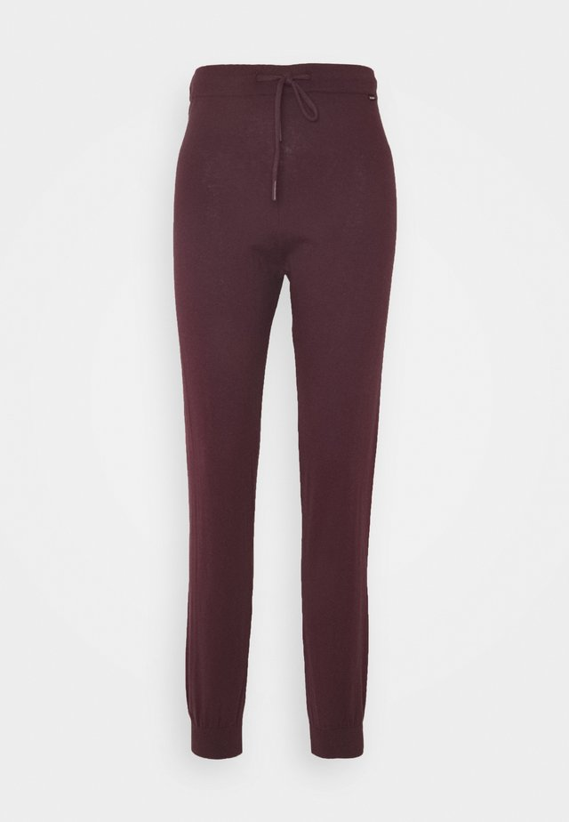 ZELL PANTS  - Tygbyxor - bordeaux
