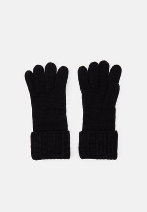 SHAKER CABLE GLOVE UNISEX - Gloves - black