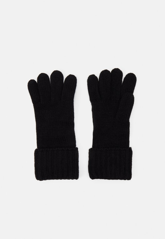 SHAKER CABLE GLOVE UNISEX - Sormikkaat - black