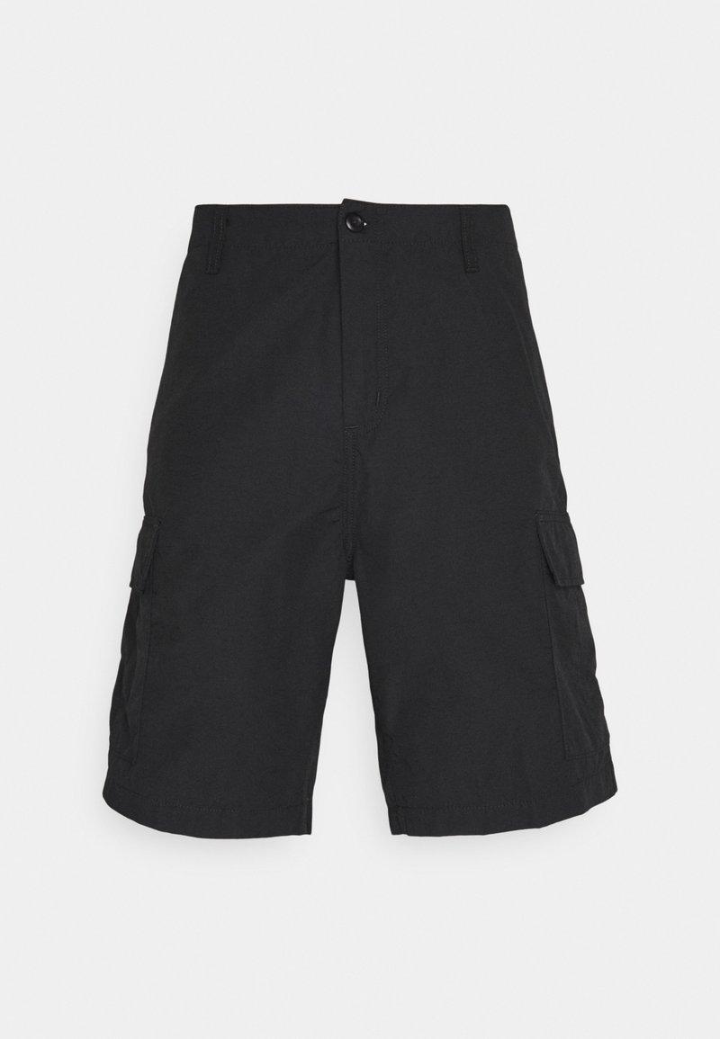 Carhartt WIP - FIELD CARGO PASADENA - Shorts - black rinsed