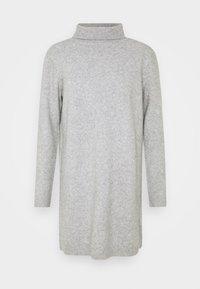 JDY BRILLIANT ROLLNECK - Jumper dress - light grey