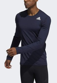 adidas Performance - Turf PRIMEGREEN TECHFIT WORKOUT COMPRESSION LONG SLEEVE T-SHIRT - Sports shirt - blue - 3