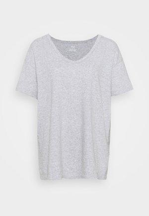 ONLY V-NECK TEE - T-shirt basic - grey