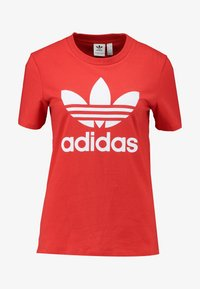 adidas Originals - TREFOIL TEE - T-shirts med print - lush red/white - 3