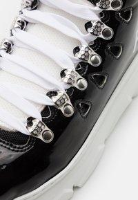 F_WD - Šněrovací kotníkové boty - black/white - 6