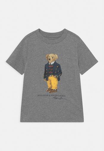 Print T-shirt - classic grey heather