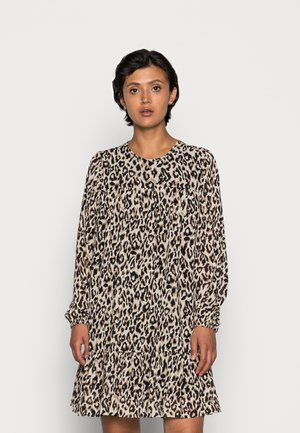 ONLSTAR FRILL SHORT DRESS - Day dress - pumice stone