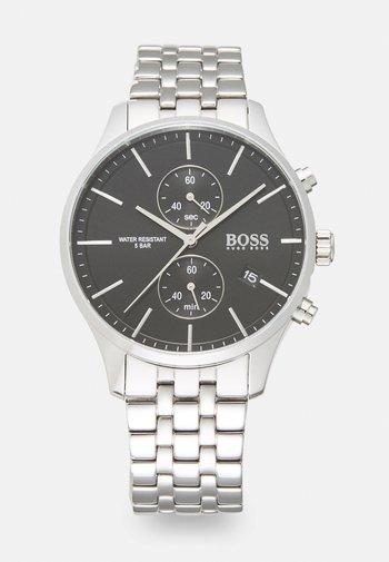 ASSOCIATE - Cronógrafo - silver-coloured/black