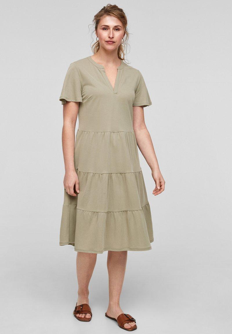 s.Oliver - Day dress - summer khaki