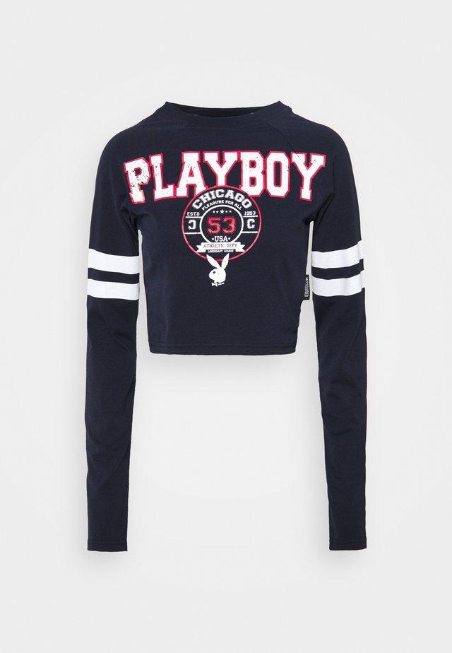 PLAYBOY VARSITY GRAPHIC - T-shirt à manches longues - navy