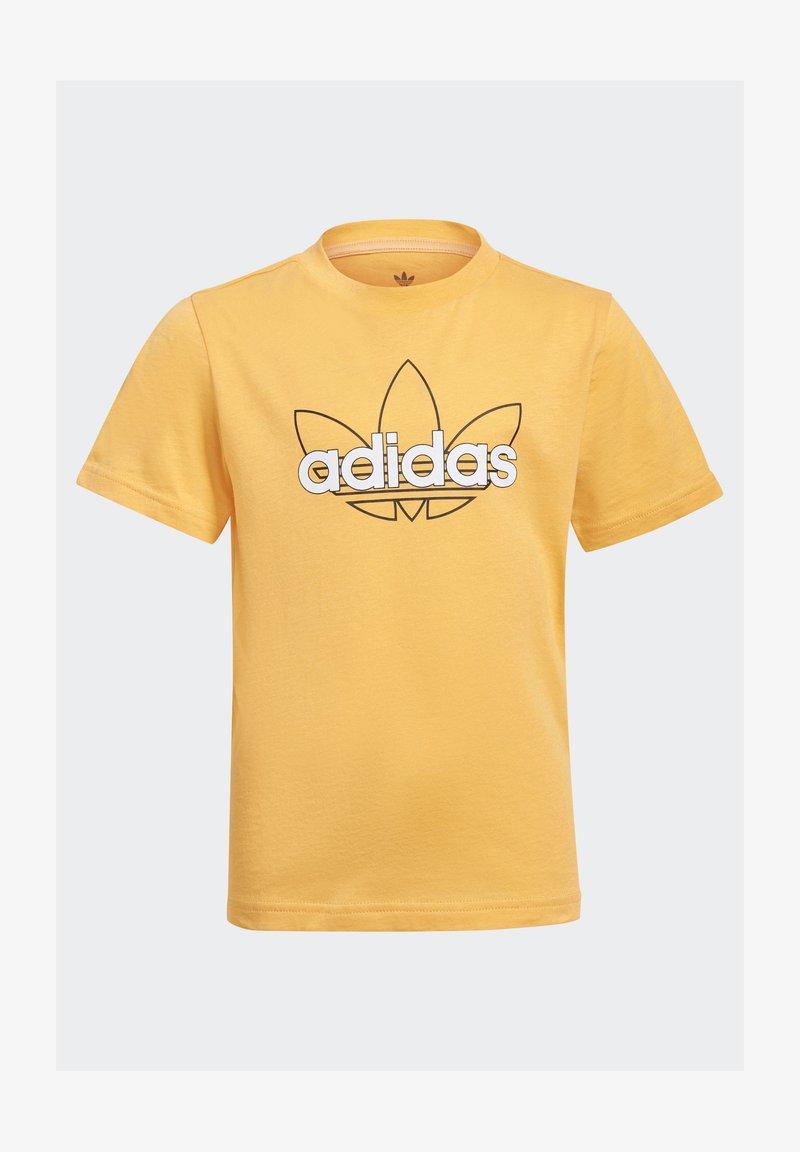 adidas Originals - OUTLINE TREFOIL UNISEX - Print T-shirt - hazy orange