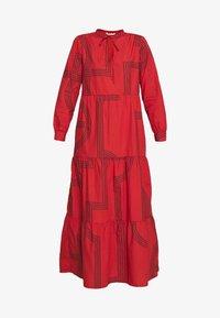 ONLMOIRA MAXI DRESS - Maxi dress - red/ochre