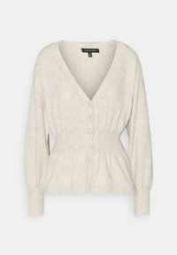 Who What Wear - WAISTED CARDIGAN - Cardigan - cream marl - 0