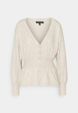 WAISTED CARDIGAN - Cardigan - cream marl