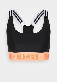 FRONT SIDE SPORTS BRA - High support sports bra - black