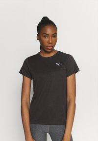 Puma - RUN FAVORITE TEE - Camiseta estampada - black - 0