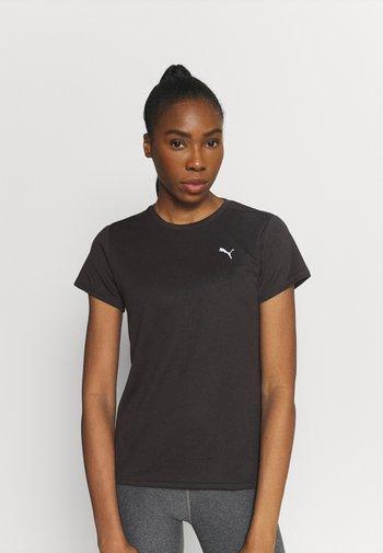 RUN FAVORITE TEE - T-shirt imprimé - black