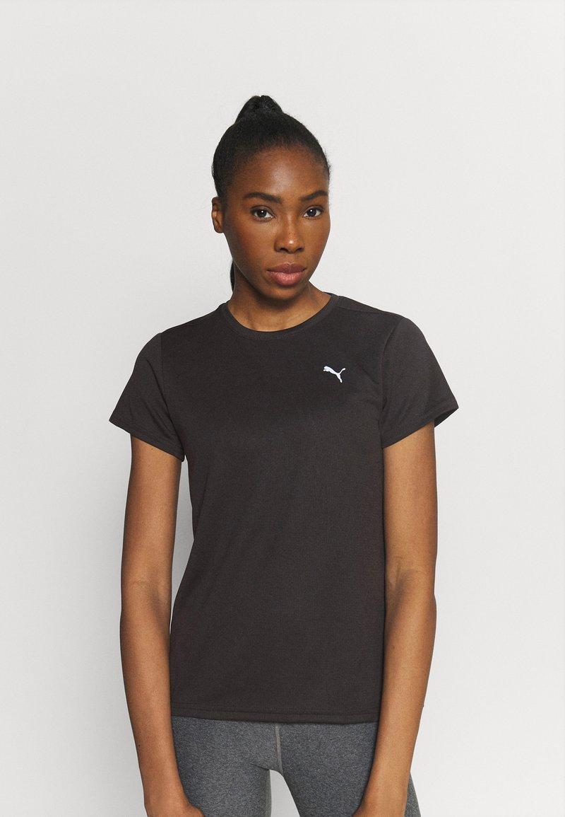 Puma - RUN FAVORITE TEE - Camiseta estampada - black