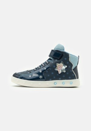 DISNEY FROZEN SKYLIN GIRL  - High-top trainers - navy/sky