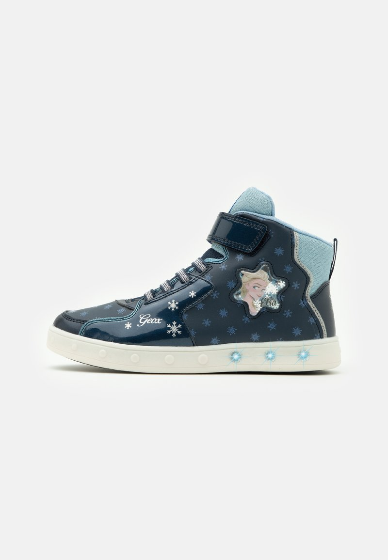 Geox - DISNEY FROZEN SKYLIN GIRL  - Zapatillas altas - navy/sky