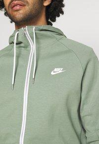 Nike Sportswear - Zip-up hoodie - spiral sage/ice silver/white - 5